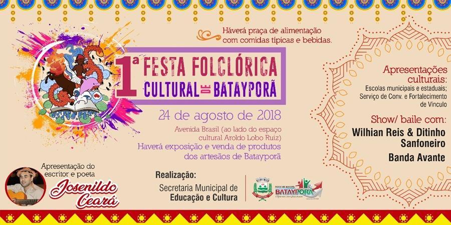 Vem aí 1ª Festa Folclórica Cultural de Batayporã