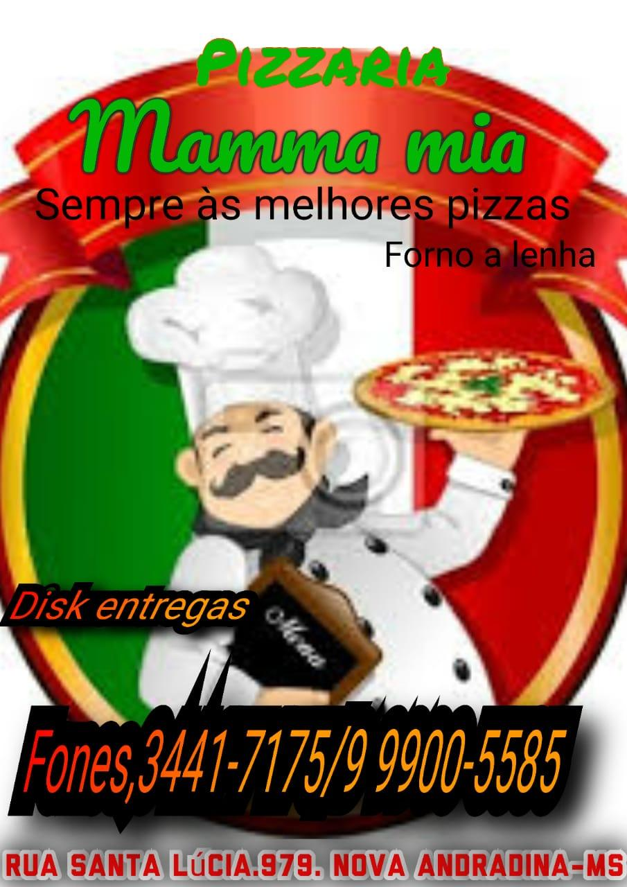 Pizzaria Mamma Mia o delivery mais rapido em Nova Andradina.