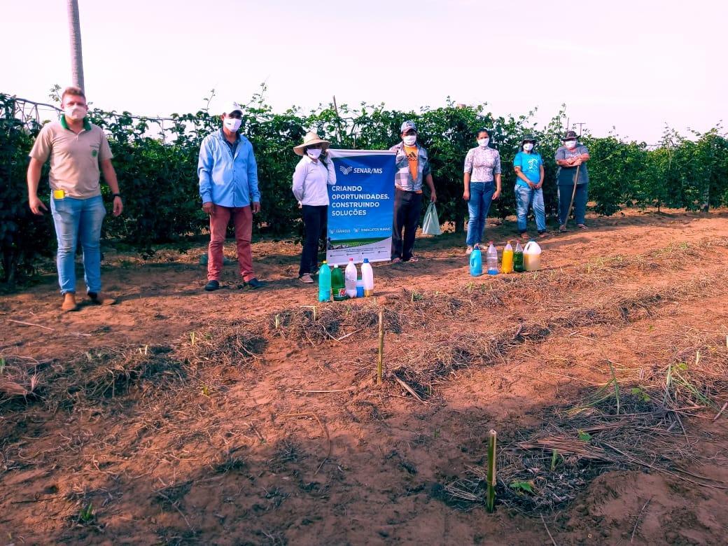 Sindicato dos Produtores Rurais de Taquarussu e Secretaria Municipal de Agricultura promoveram Curso de Hortifruti