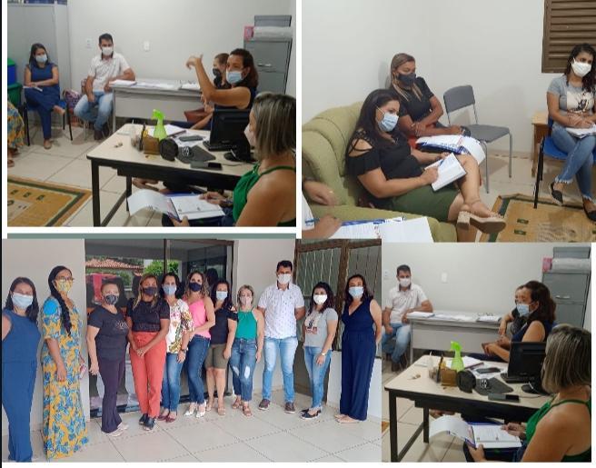 Secretária de Educação Profa. Marilza convida equipe pedagógica para tratar de assuntos sobre volta as aulas