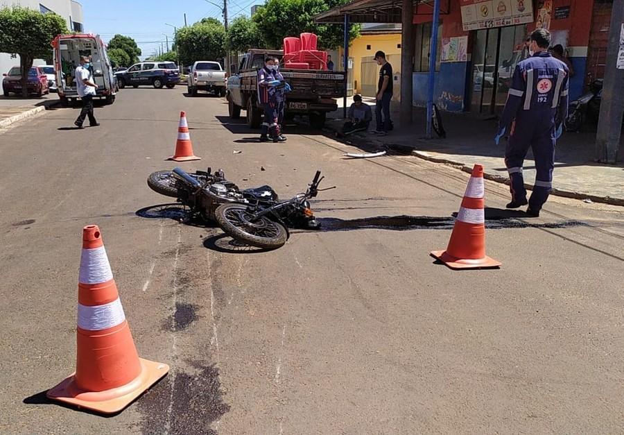 Nova Andradina - Trabalhadores da mesma empresa se envolvem em acidente de trânsito
